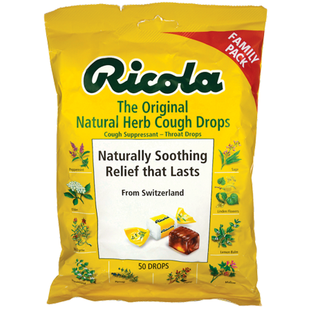 Ricola The Original Natural Herb Cough Drops 50 (Best Non Menthol Cough Drops)