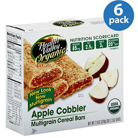 Health Valley Organic Apple Cobbler Multigrain Cereal Bars, 7.9 oz, (Pack of - Halloween Party Foods And Treats