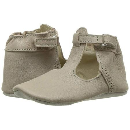 Girls T-Strap Shoe - First Kicks, Beige, Size 12-18 Months M US Infant