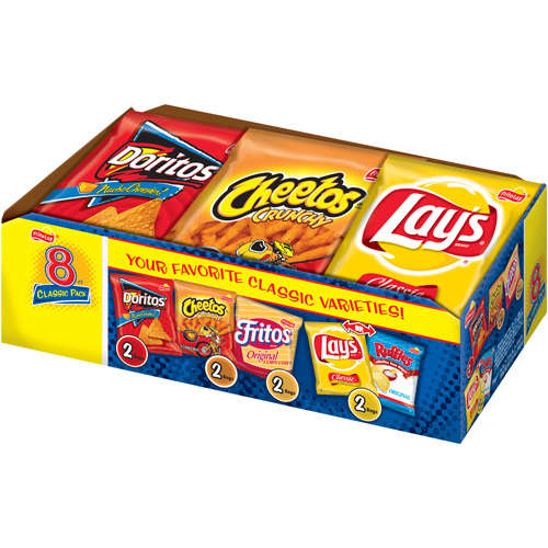 Frito-Lay: Classic Variety Pack Chips, 8 Oz