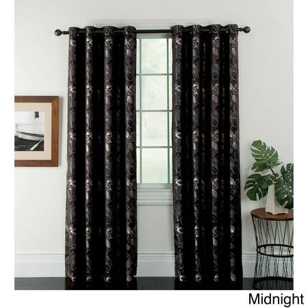 Arlee Home Fashions Ganset Leaves Jacquard Grommet Curtain Panel Pair