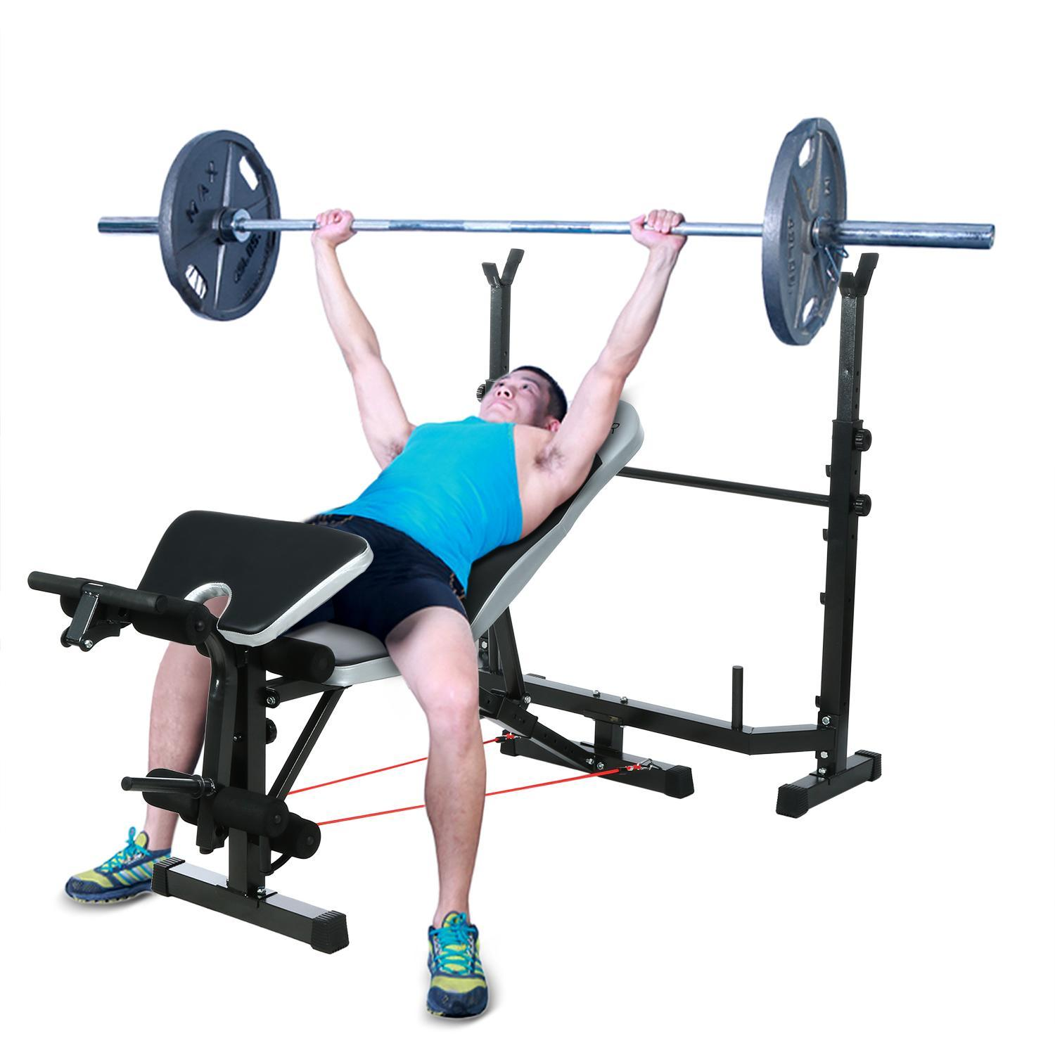Fitness Olympic Workout Weight Bench and Rack Multipurpose Weightlifting BTC