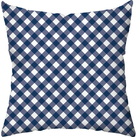 (Checkerboard Lifestyle Gingham Navy Throw Pillow, Navy)