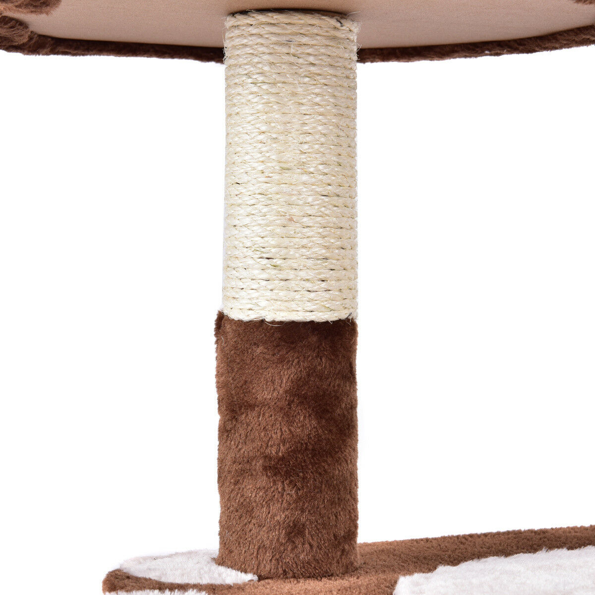 Gymax 42'' Cat Tree Kitten Pet Furniture Multi-level Climb Scratching Posts Paw Brown - image 8 de 10