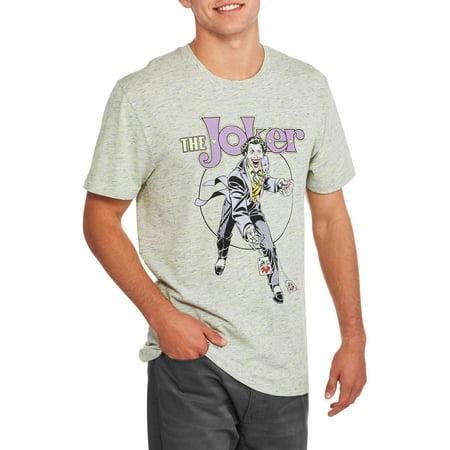Classic Joker With Cards Big Men's Graphic T-shirt - Joker Tie