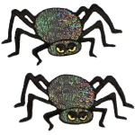 Expo Int'l Halloween Large Black Spider Iron-On Applique Pack of 2