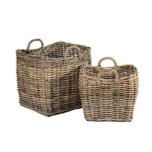 Ibolili French Fireplace Basket (Set of 2)