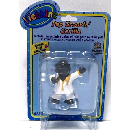 Seal Pup Tiger - Webkinz Pop Groovin' Gorilla Figurine New With Unused Sealed Code
