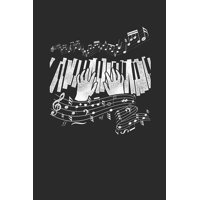 "Playing Piano: Pianos Notebook, Dotted Bullet (6"" x 9"" - 120 pages) Musical Instruments Themed Notebook for Daily Journal, Diary, and Gift (Paperback)"