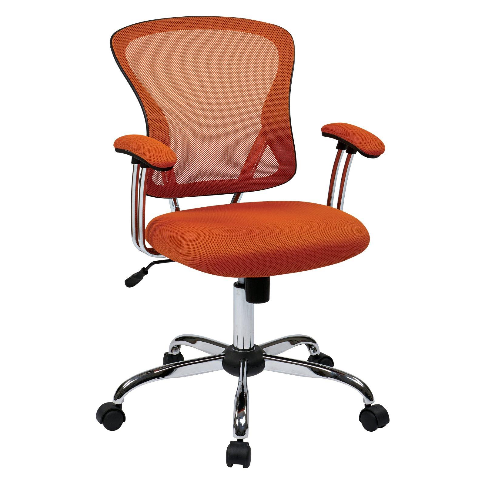 Juliana Task Chair, Orange Mesh