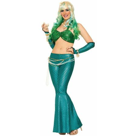 Halloween Mermaid Blue Leggings - Halloween 13k