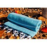 Caribbean Blue High Quality Cotton Towel As Bath Towel Beach Towel Turkish Towel Gym Fouta Fitness Throw Pool