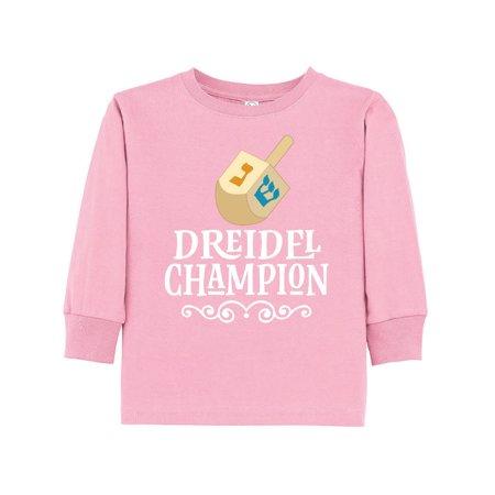 (Hanukkah Dreidel Champ Toddler Long Sleeve T-Shirt)