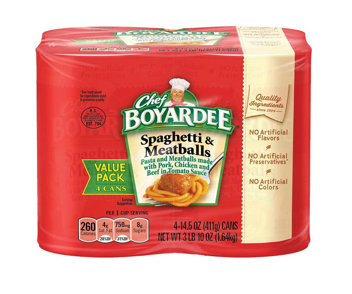 Chef Boyardee Spaghetti & Meatballs in Tomato Sauce, 4-Count by ConAgra Foods Inc.
