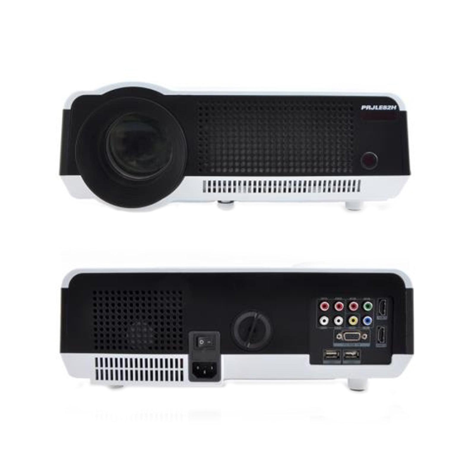 Teatro En Casa Proyector de video con soporte para 1080p HD, altavoces incorporados (HDMI/USB/VGA/YPbPr/RCA) + Pyle en VeoyCompro.com.co