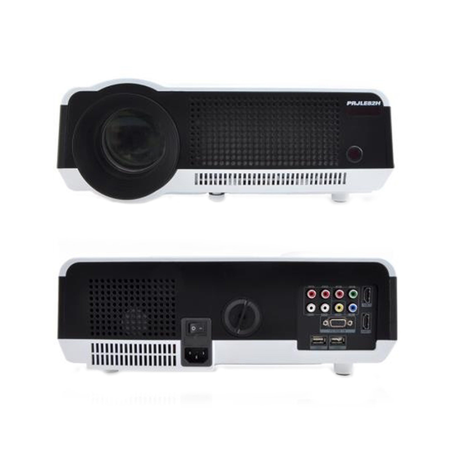 Video Projector with HD 1080p Support, Built-In Speakers (HDMI/USB/VGA/YPbPr/RCA)