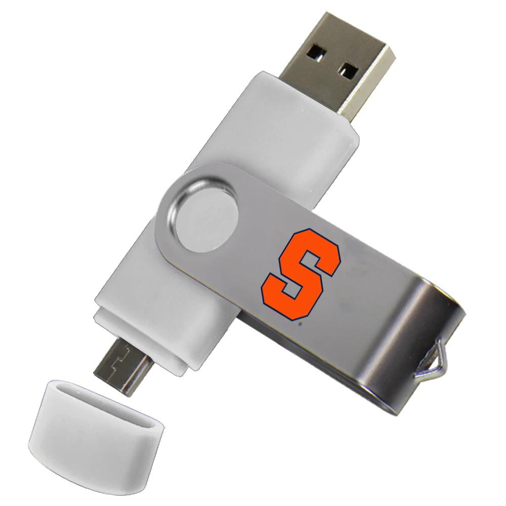 Syracuse Orange Dual Pro Micro to USB Drive 16GB White