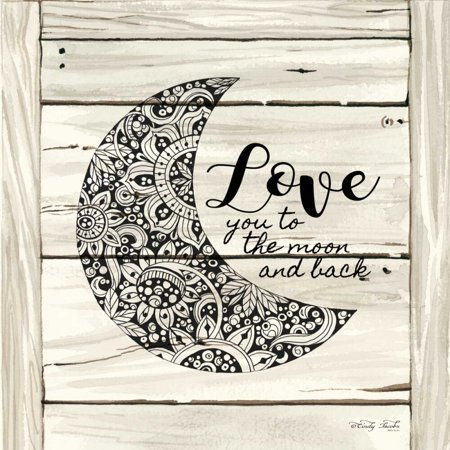 Love You to the Moon    Poster Print by Cindy Jacobs