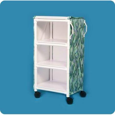 MRI Compatible 3 Shelf Cart with 26