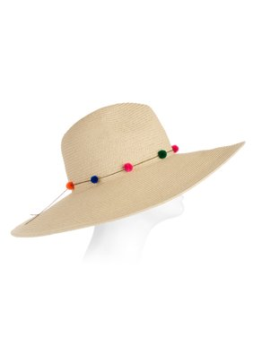 4e106a09e7e7a Product Image Eliza May Rose Women s Continental Straw Sunhat with Poms
