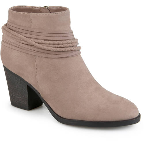 Brinley Co. Women's High Heeled Strappy Chunky Heel Ankle Booties