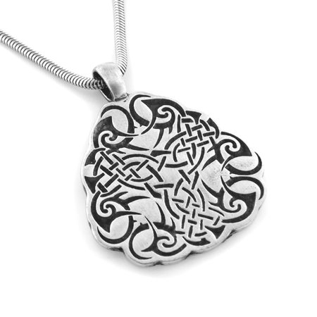 Celtic Shield Knot Amulet Pewter Pendant 20