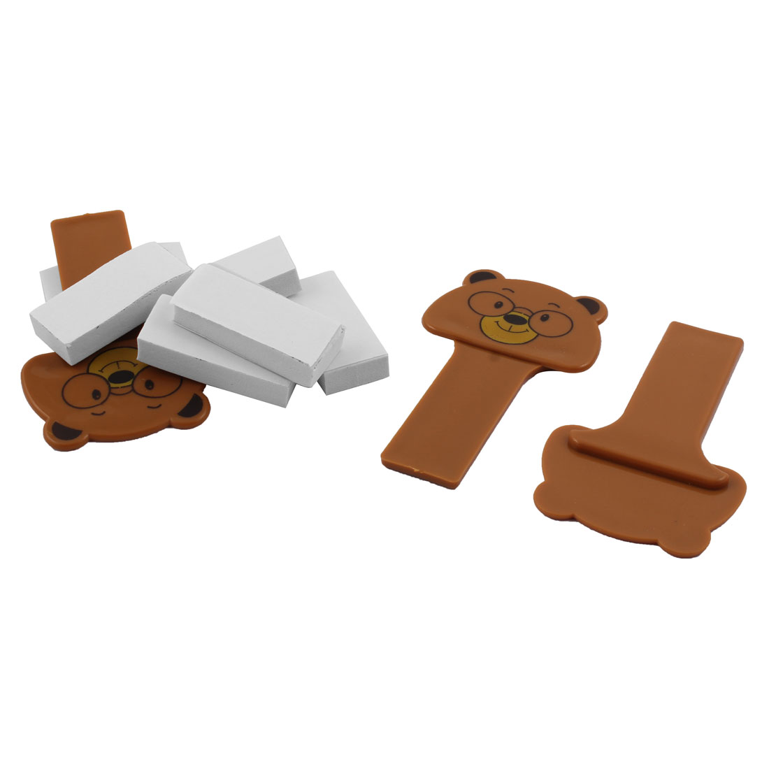 Household Bathroom Self Adhesive Toilet  Cover Lifter Handle Brown 3pcs