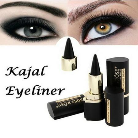 Makeup Eyes Pencil Longwear Black Gel Eye Liner Stickers Eyeliner Wateroroof](Black Cat Eye Makeup Halloween)