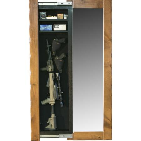 Willa-Hide Full-Length Mirror Hidden Gun Cabinet Open