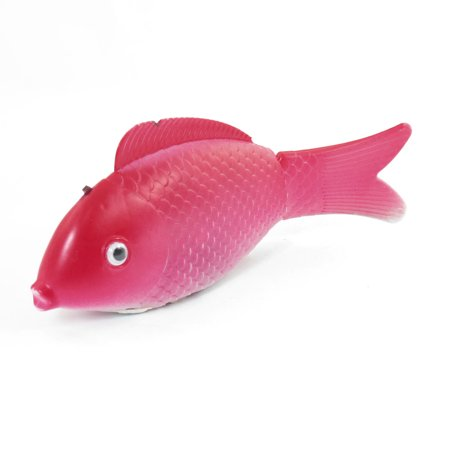 Child emulational red white plastic swing tail electronic for Whiting fish at walmart