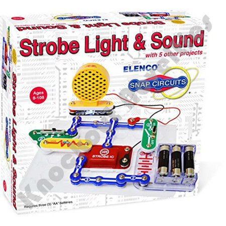 Elenco Electronics SCP-14 Snap Circuits Strobe Light & Sound Kit - Snap Circuit Lights