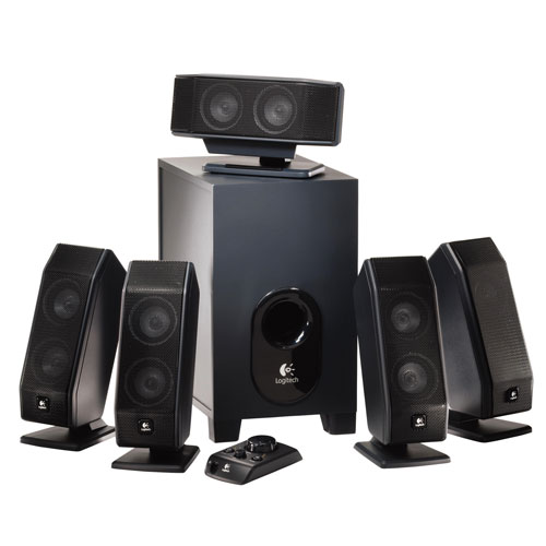 Logitech x-540 5.1 surround sound speaker system with sub...