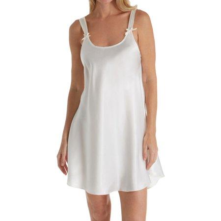 Women's Amanda Rich 561D-40 Satin Bias Cut Short Gown (Ivory 2X)