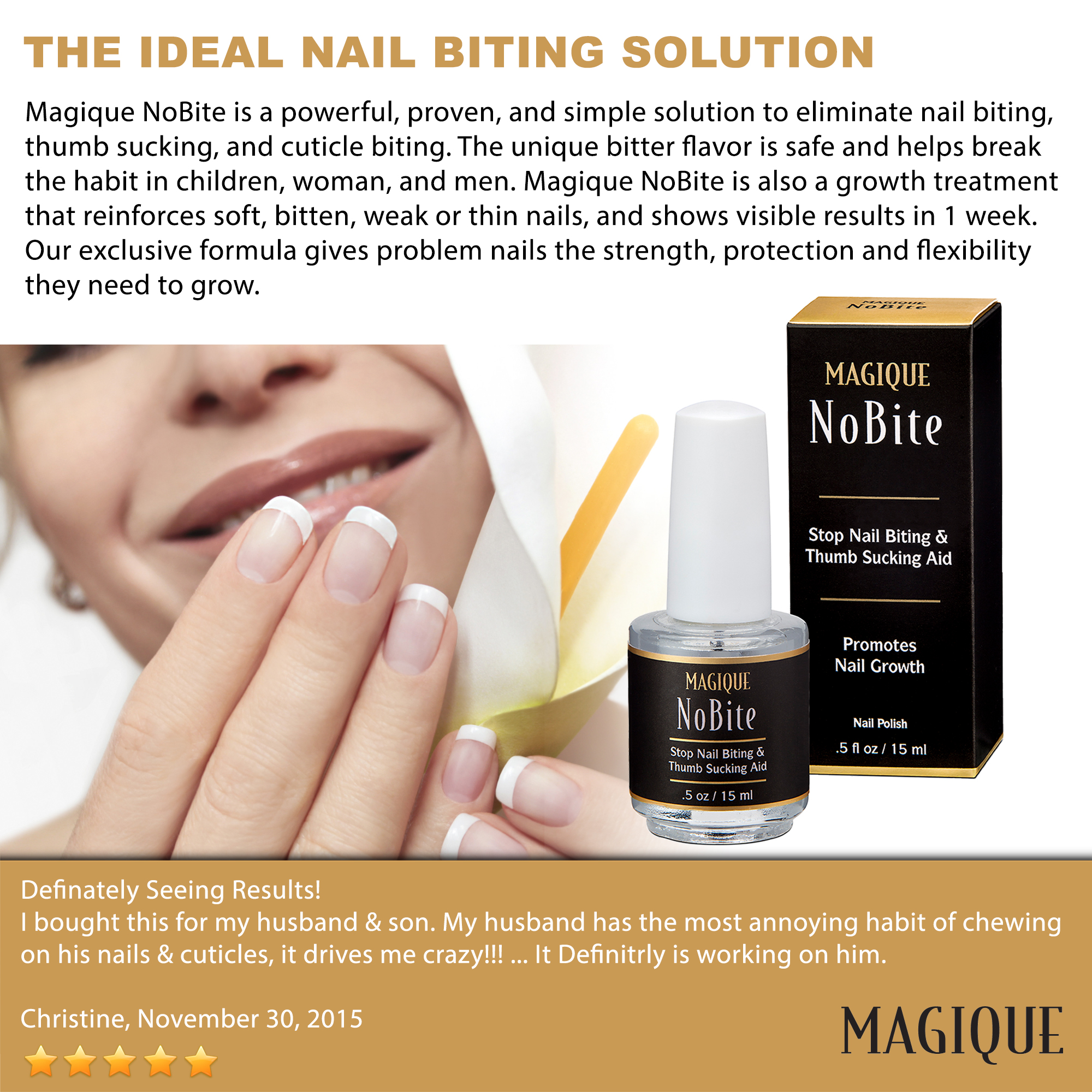 Magique Ite Stop Nail Biting And Thumb Ing Polish 0 5 Oz