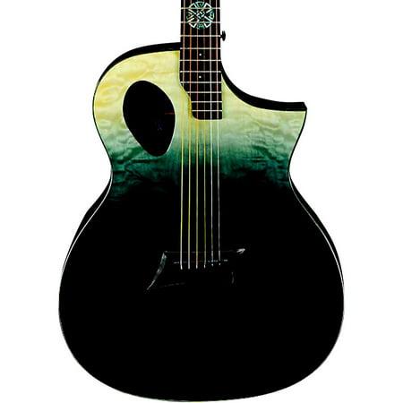 Ash Cutaway - Michael Kelly Forte Port X Offset Soundhole Cutaway Acoustic-Electric Guitar Partial Eclipse