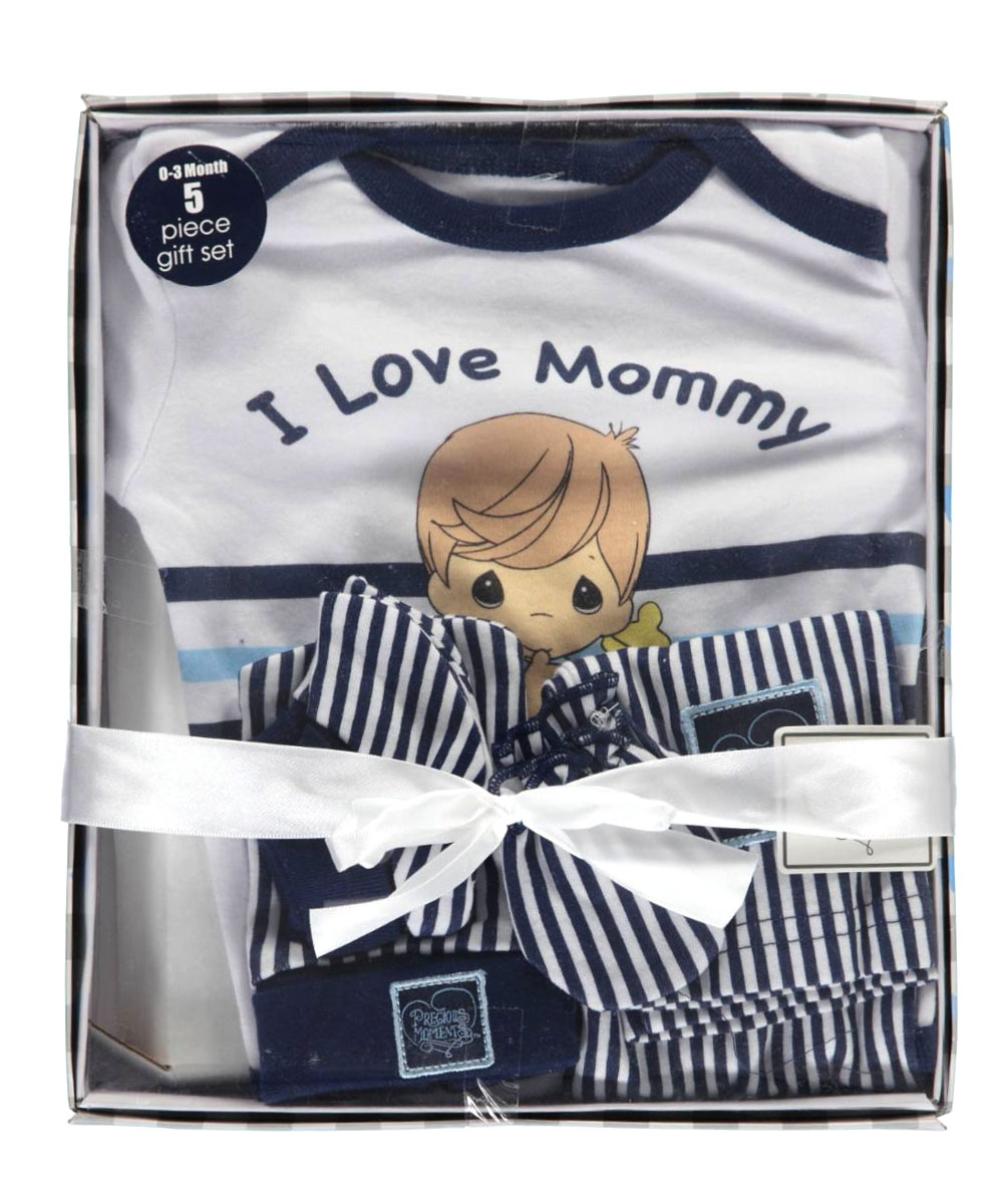 "Baby Boys' ""I Love Mommy"" 5-Piece Layette Gift Set"