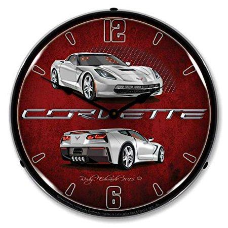 Corvette C7 Blade Silver Vette Wall Clock 14