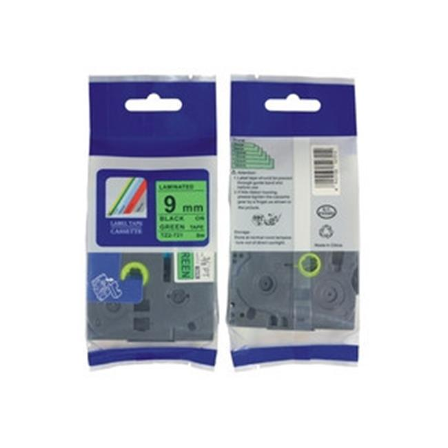 Nextpage TZE-721 Compatible Brother Extra Strength Laminated Cassette Tape Label  Black On Green - Pack Of 3