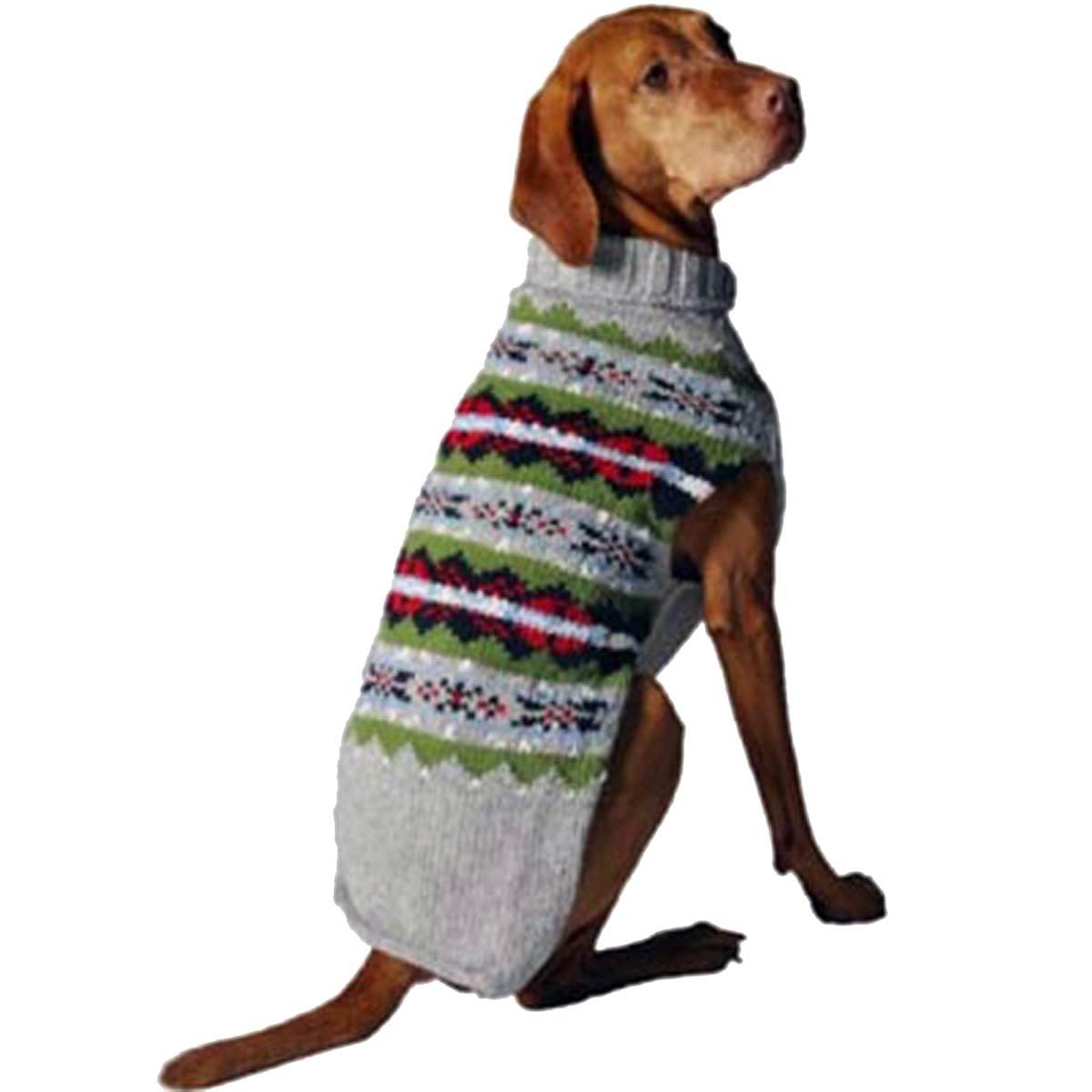 Handmade Fairisle Wool Dog Sweater Gray Large Walmart Com