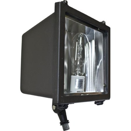 Dabmar Lighting DF5755 11 x 9 x 7.63 in. 120 V 50 watts Powder Coated Cast Aluminum Medium Flood Fixture with Metal Halide Lamp, Bronze
