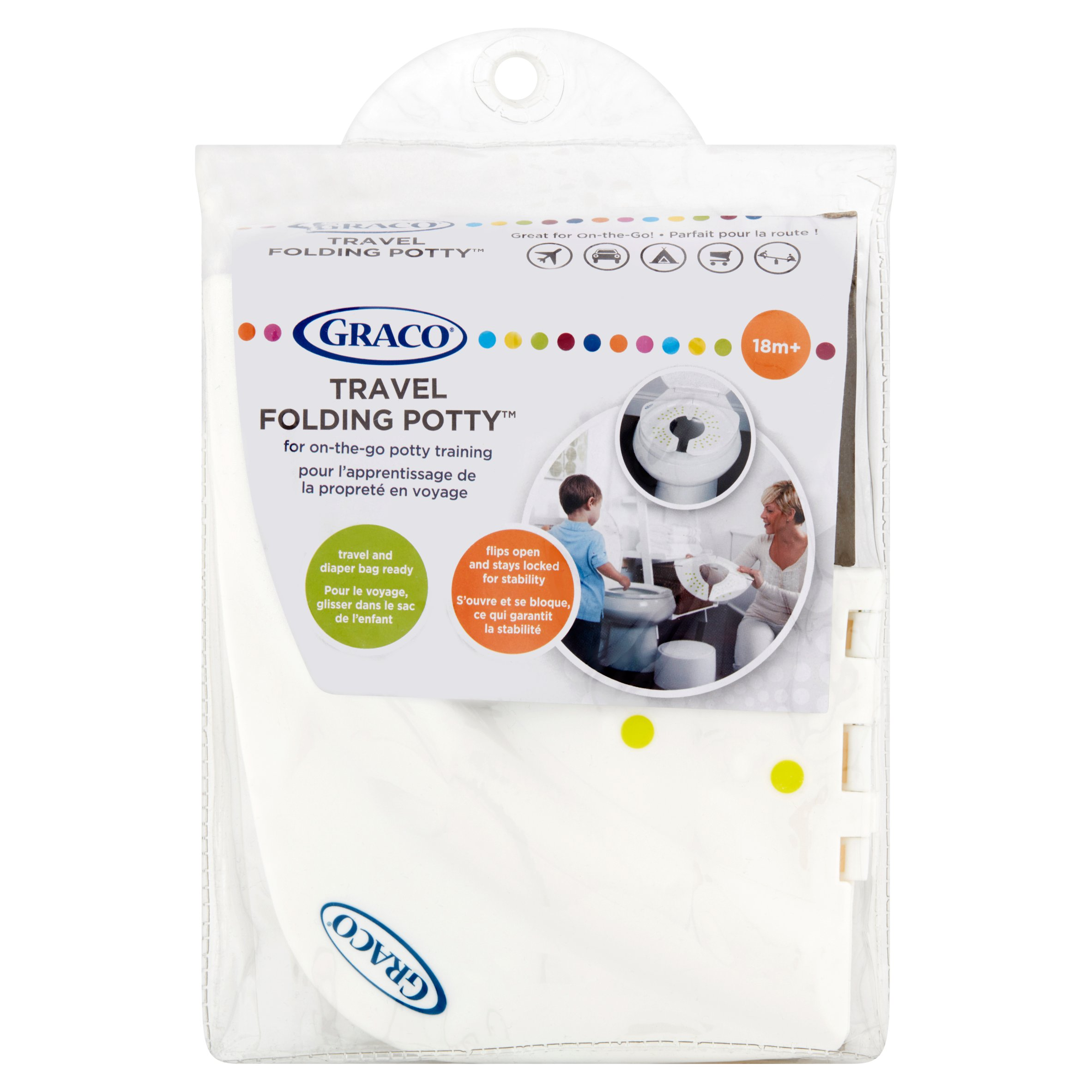Graco Folding Travel Potty, White