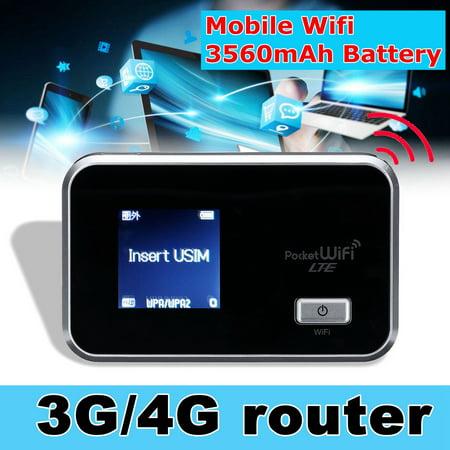 Portable Router 4G/3G Wifi Wireless Router Mobile Broadband Hotspot SIM Card Slot (Best Wifi Hotspot App For Iphone)