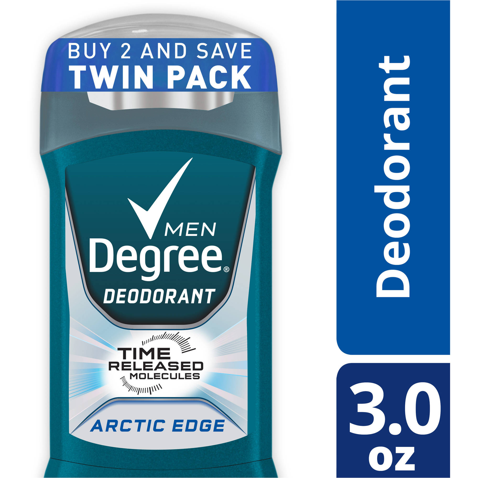 Degree Men Fresh Arctic Edge Deodorant, 3 oz, Twin Pack