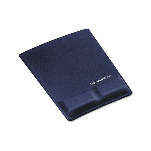 Fellowes 9183901 Memory Foam Wrist Support w/Attached Mouse Pad, Saphire