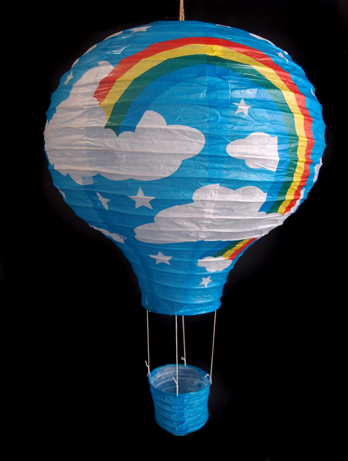Light Lime Rainbow Hot Air Balloon Paper Lantern