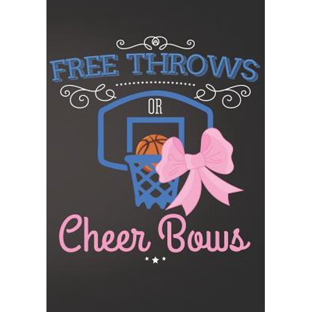 Free Throws or Cheer Bows Basketball: Gender Reveal Baby Shower Sign In Guest Book Plain