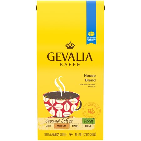 Sanka Decaffeinated Coffee (Gevalia House Blend Ground Decaf Coffee, Decaffeinated, 12 oz Bag )