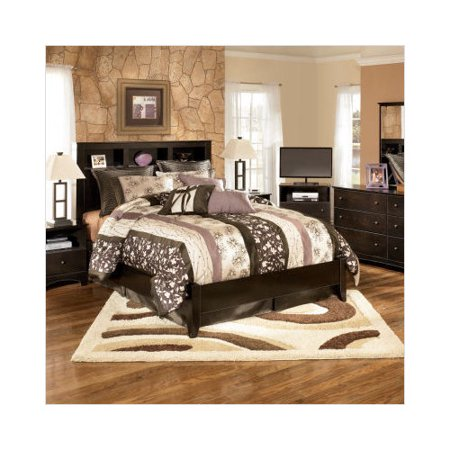 Ashley Furniture Kendi Queen Panel Bedroom Set In Dark Brown