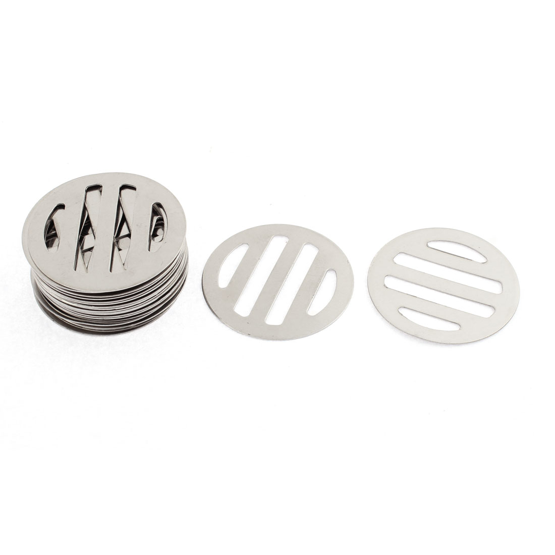 Stainless Steel Round Sink Floor Drain Strainer Cover 2 Inch Dia 20pcs