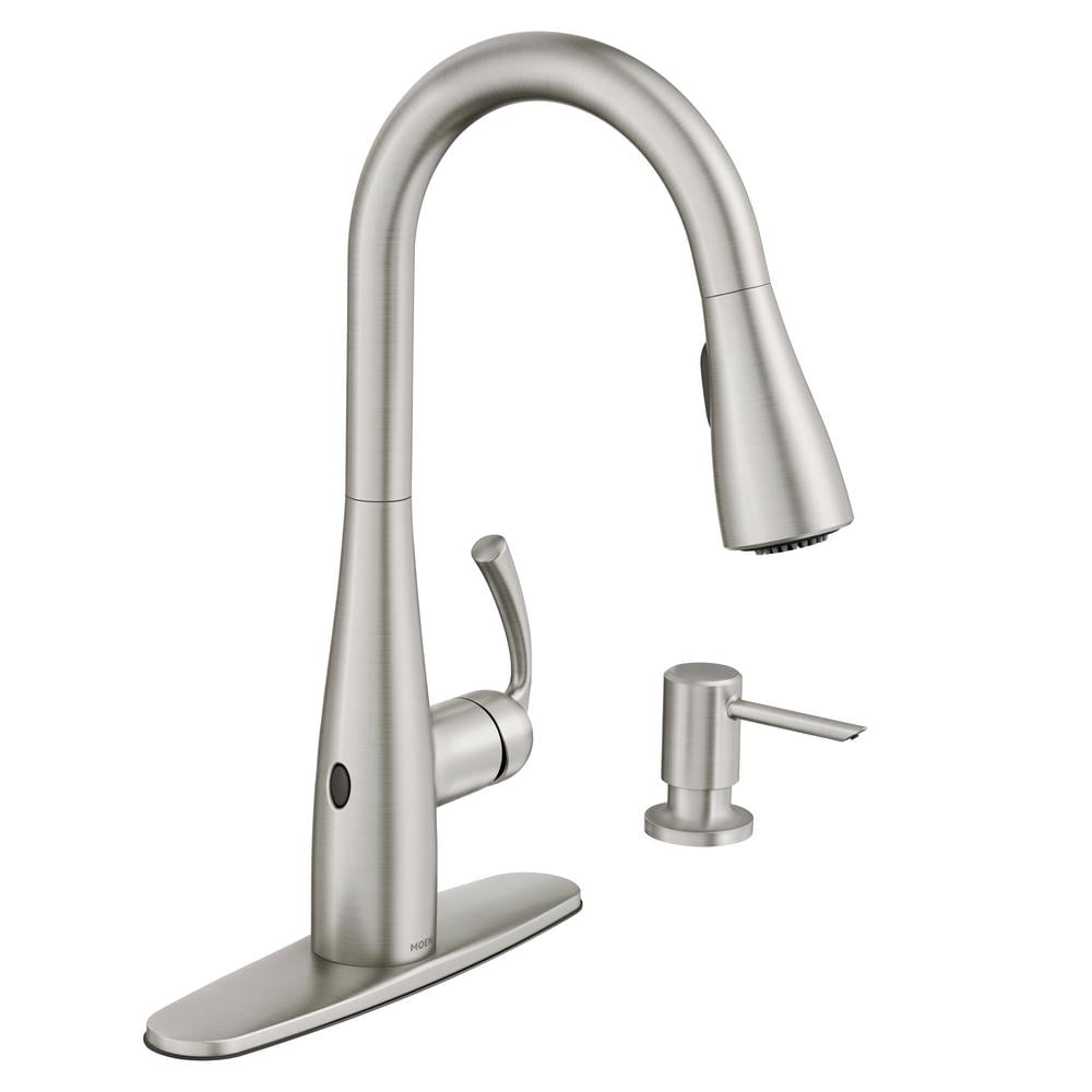 Meon Essie Touchless Single Handle Pulldown Sprayer Kitchen Faucet In Spot Resist Stainless New Open Box Walmart Com Walmart Com